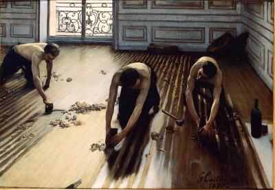 floor scraper painting